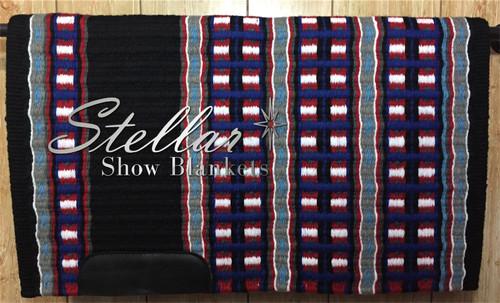 Black, Royal Blue, Show Red, White, Malibu Blue, Gray and Charcoal Stellar Show Blanket