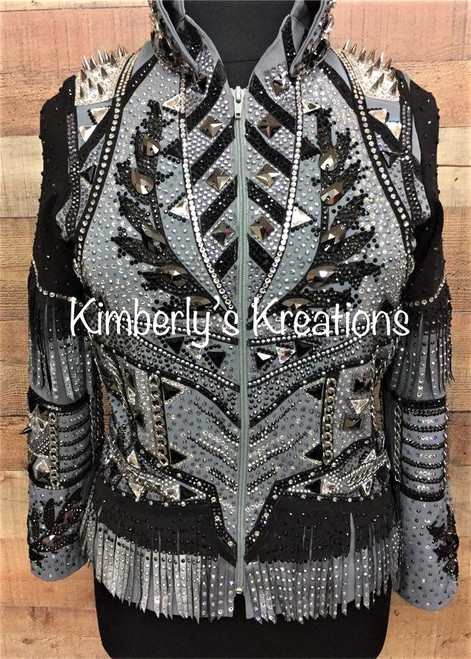 Black and Gray Show Jacket - Ladies Size Large