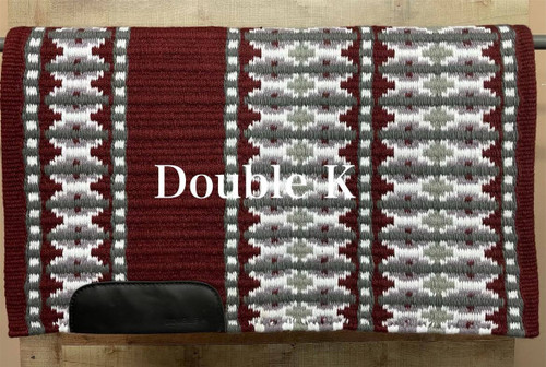 Burgundy, Charcoal, Gray, Starlight and White  Double K Show Blanket