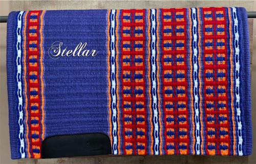 Purple, Red, Orange, White, and Royal Stellar Show Blanket - 34 X 43