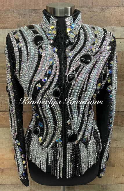Stunning Trudy Black Label Show Jacket - Ladies Size Small