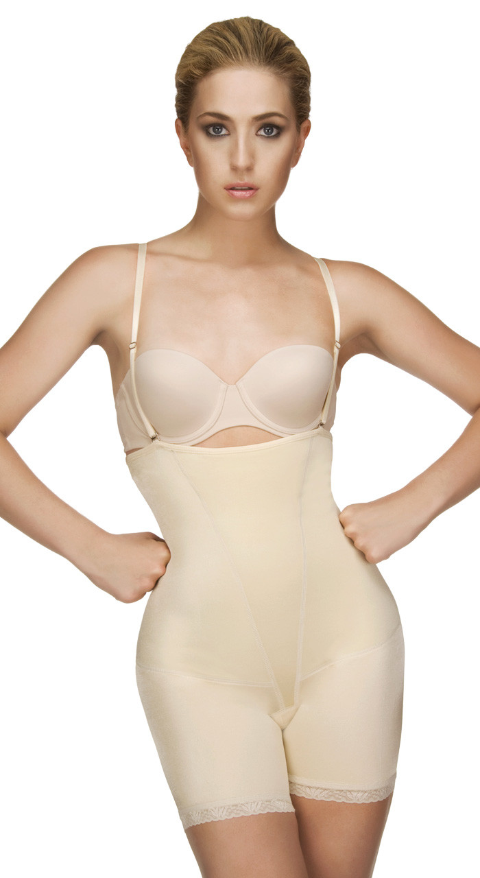 4339dd9d3b Vedette ( 504) Isabelle Strapless Mid Thigh Body w  Buttock Enhancer ...