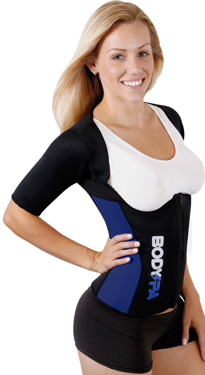 61075d21755 Body Spa Sauna Sweat Vest Shaper with sleeves Weight Loss - extreme shape