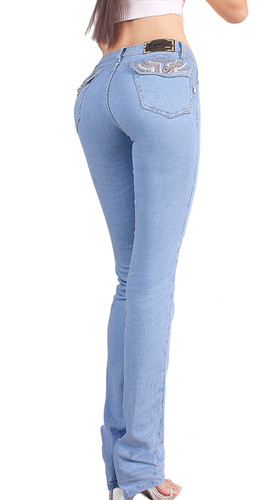 94b125a59 ... Extreme Shape Butt Lifter Tummy Control boot cut Jeans for Women  Colombian Style Low Rise Skinny