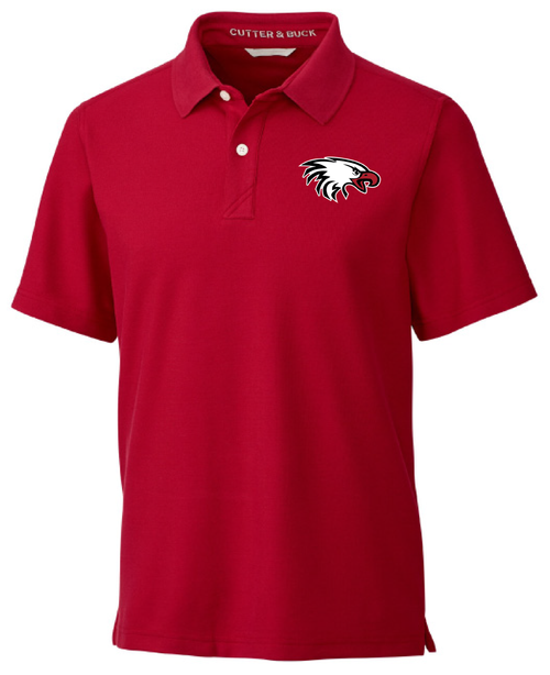 Cutter & Buck Men's Breakthrough Polo in Cardinal Red with Eagle Logo