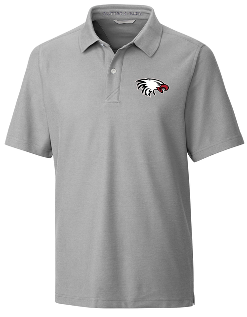 Cutter & Buck Men's Big & Tall Breakthrough Polo in Grey with Eagle Logo