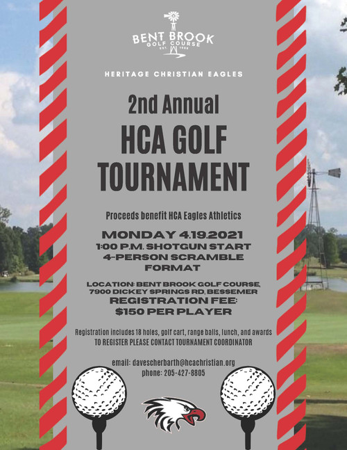 2nd Annual HCA Golf Tournament - Per Person Registration - See Product  Overview Section for Important Details