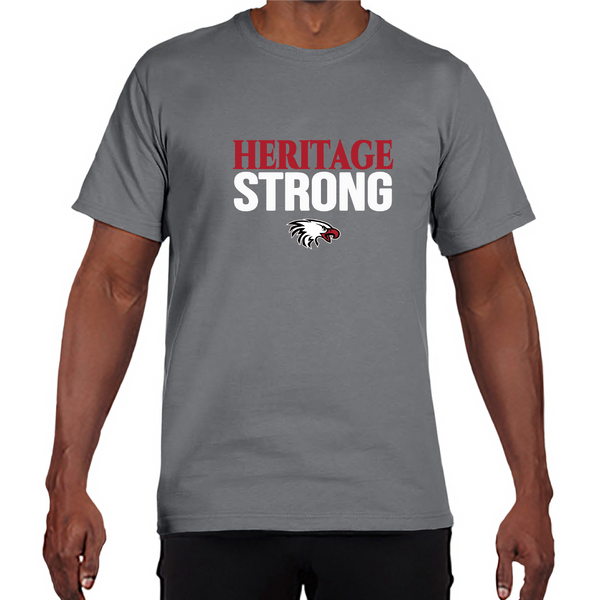 Gildan Adult Performance® Adult Core T-Shirt in Gravel with Heritage Strong Logo