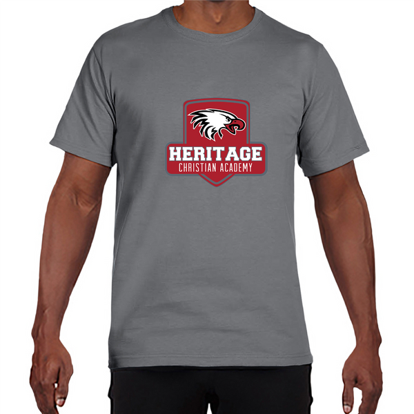 Gildan Adult Performance® Adult Core T-Shirt in Gravel with Heritage Shield Logo