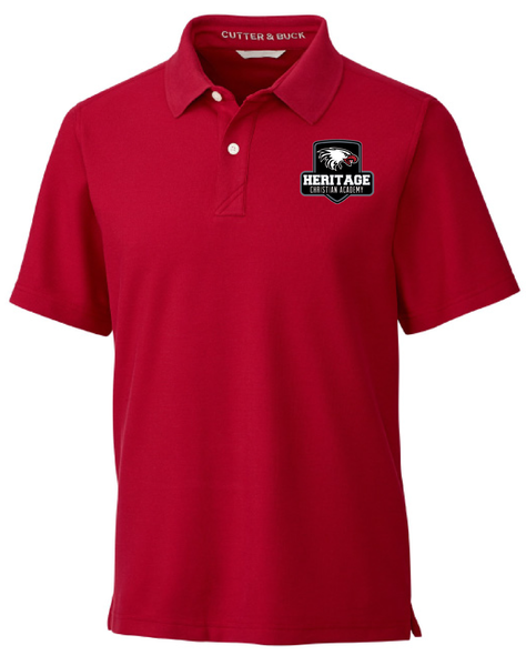 Cutter & Buck Men's Big & Tall Breakthrough Polo in Cardinal Red with Heritage Shield Logo