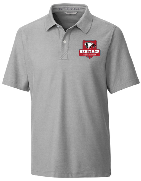 Cutter & Buck Men's Big & Tall Breakthrough Polo in Grey with Heritage Shield Logo