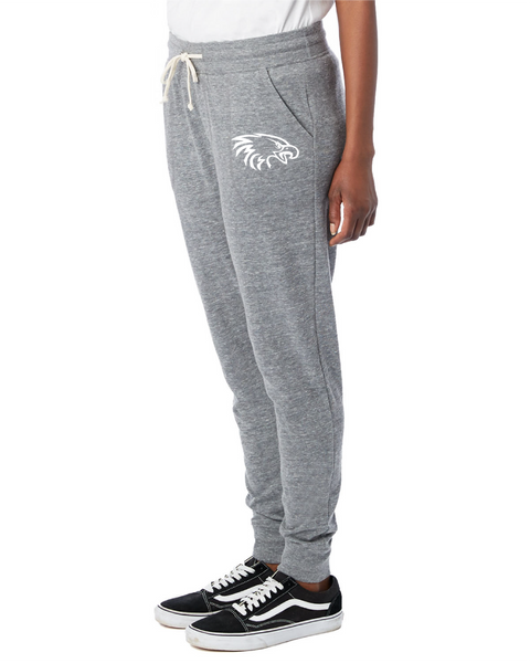 Alternative Ladies' Eco Classic Jogger in Eco Grey with White Eagle Head Logo