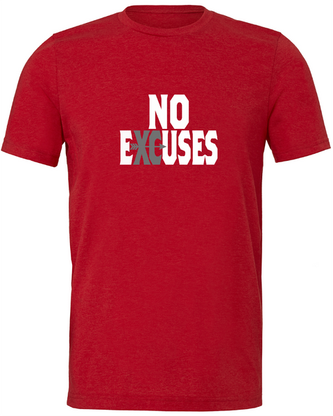 Gildan Adult Performance® Adult Core T-Shirt in Red with Cross Country No Excuses Logo