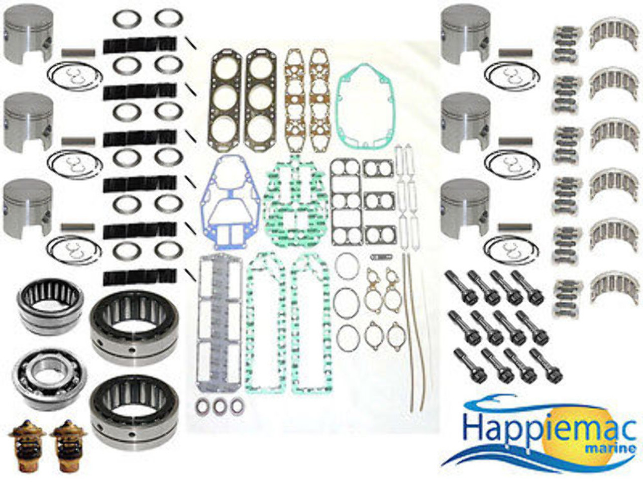 Mercury Mariner 2 0L V6 Powerhead Rebuild Kit 1984-91 135 150 XR2 Main  Bearings
