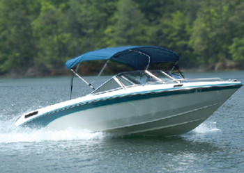 Carver 304A04 Pacific Blue 46-in. High Ups-Able Bimini Tops