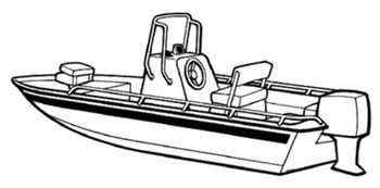Carver Covers 71217P V-Hull Center Console Shallow Draft Fishing Boats