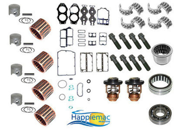 Yamaha 115-130 HP V4 Powerhead Rebuild Kit Piston Gasket Bearings 93-Up 23mm