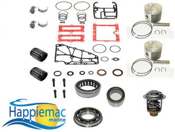 Evinrude 40 50 60 65 2 Cyl  Powerhead Piston Gasket Bearing Rebuild Kit