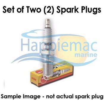 NGK Johnson 9.9-50 4 Stroke Suzuki DF9.9-90 Spark Plug DCPR6E - Set of 2