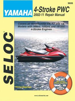 Seloc Marine Yamaha 4 Stroke Personal Watercraft Repair Manual 2002-2011