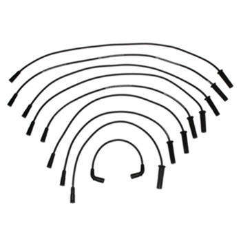 GM 5.0L 5.7L Vortec Ignition Wire Set w/Flat Dist. Cap Straight Boots 84-863656A1