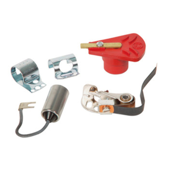 Ignition Kit, Mallory Yl Series Distributor, Points, Cond, & Rotor