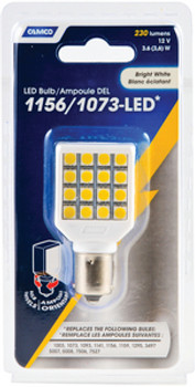 Camco 1156/1073 Light Led Bulb with Swivel Housing - White