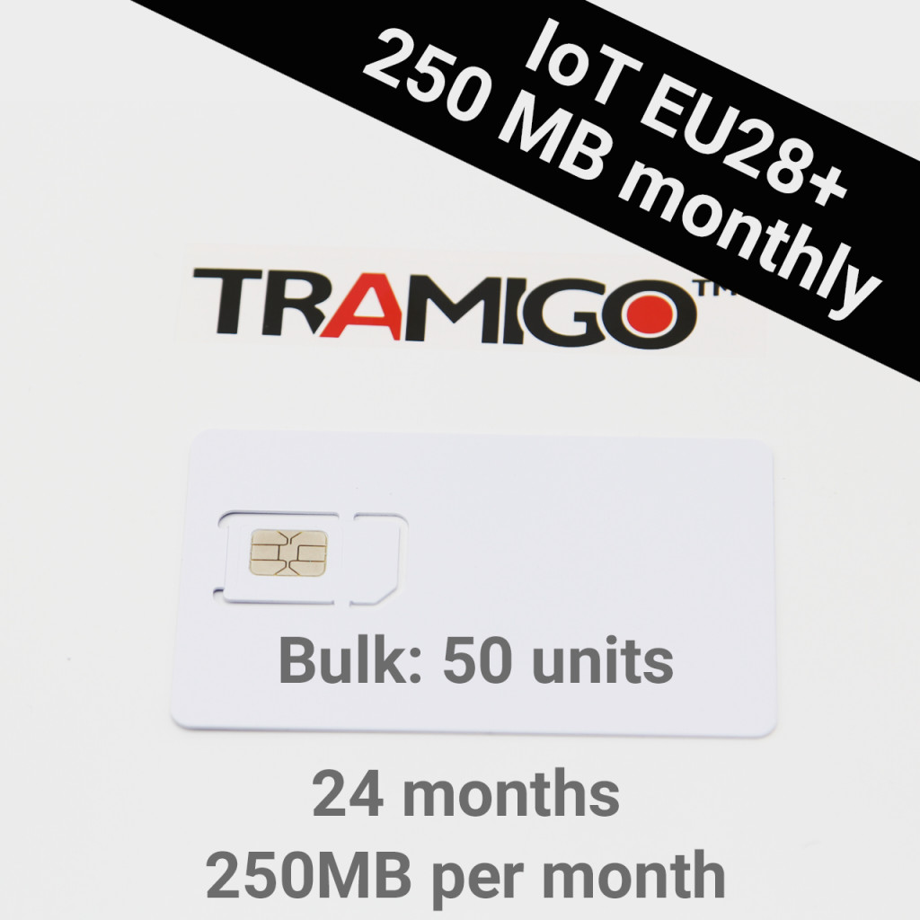 IoT EU28+  250 Mb per month - 2 Years (50+ Units Bulk)