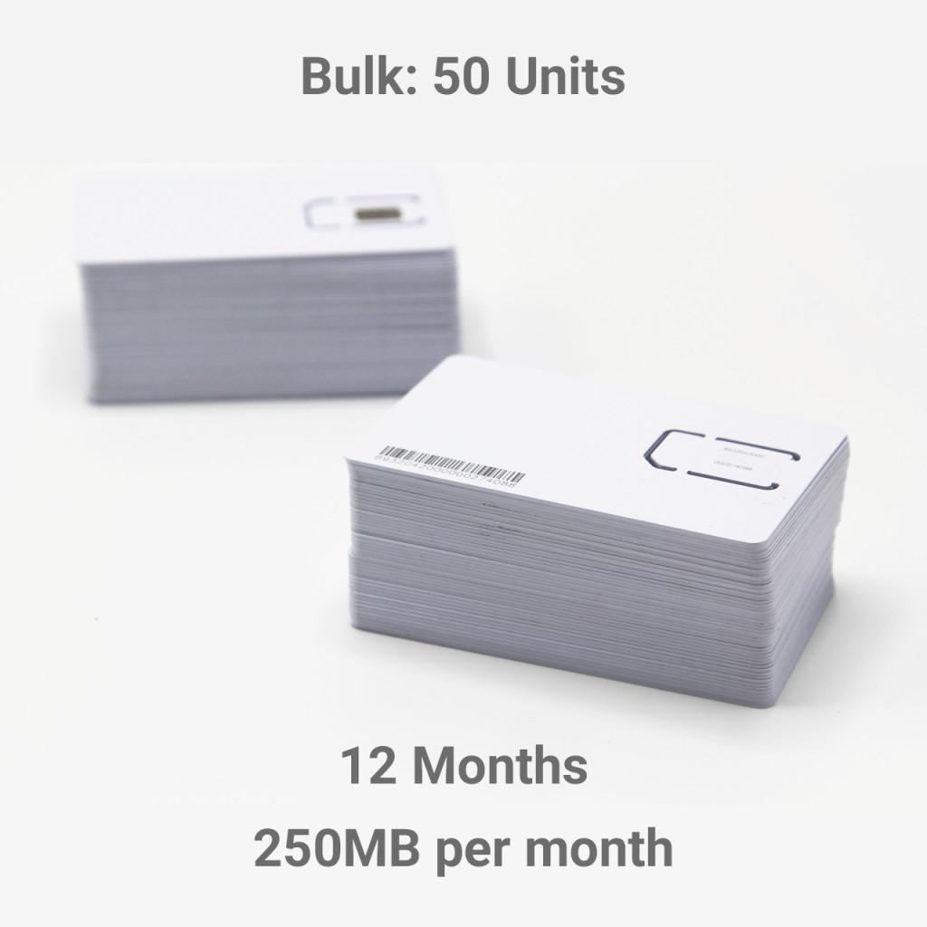 IoT EU28+  250 Mb per month for  1 Year (50+ units bulk)