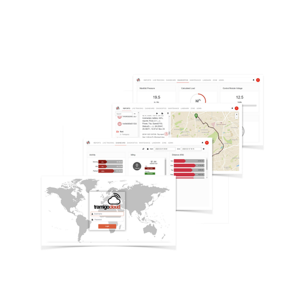 The Tramigo IQL 4G Asset Tracker comes with free access to Tramigo Cloud to enable you to track your assets from your laptop or desktop machine