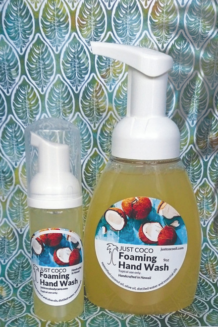 Foaming Hand Wash 3oz Travel Size, 9oz Regular Size