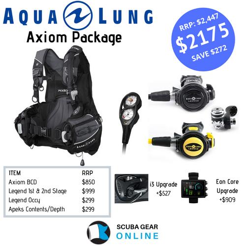Axiom BCD/Legend LX 1st & 2nd stage/ Legend octopus /Apeks SPG+Depth package
