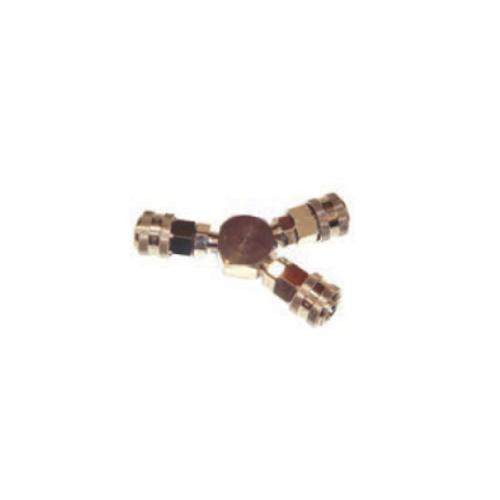 Y-Piece 3 x brass female fittings