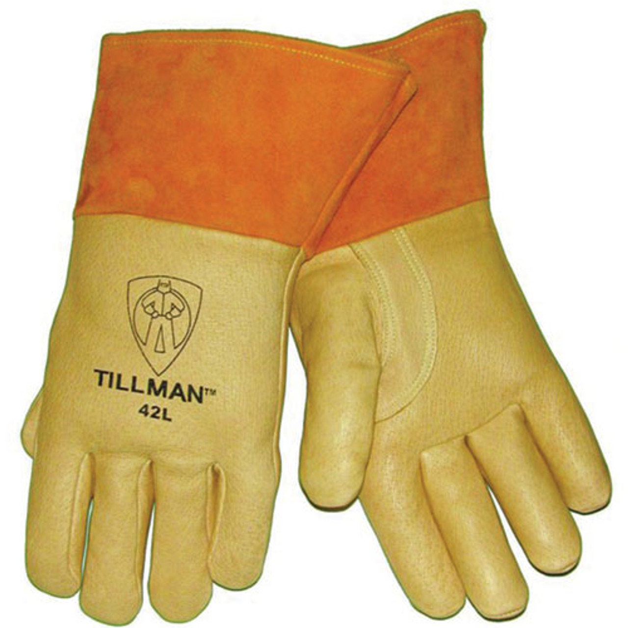 Tillman 30L Top Grain Pearl Pigskin Tig Welders Gloves LARGE