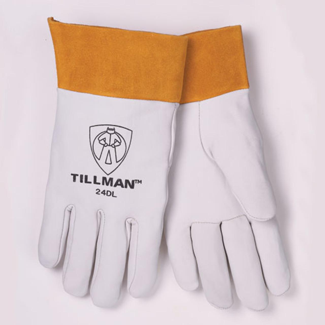 "Small Tillman 24D Top Grain Kidskin 2/"" Cuff TIG Welding Gloves X"