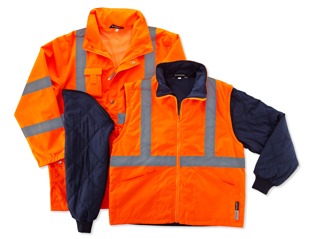 Ergodyne GloWear 8385 ANSI High Visibility 4-in-1 Reflective Safety Jacket 5XL Lime
