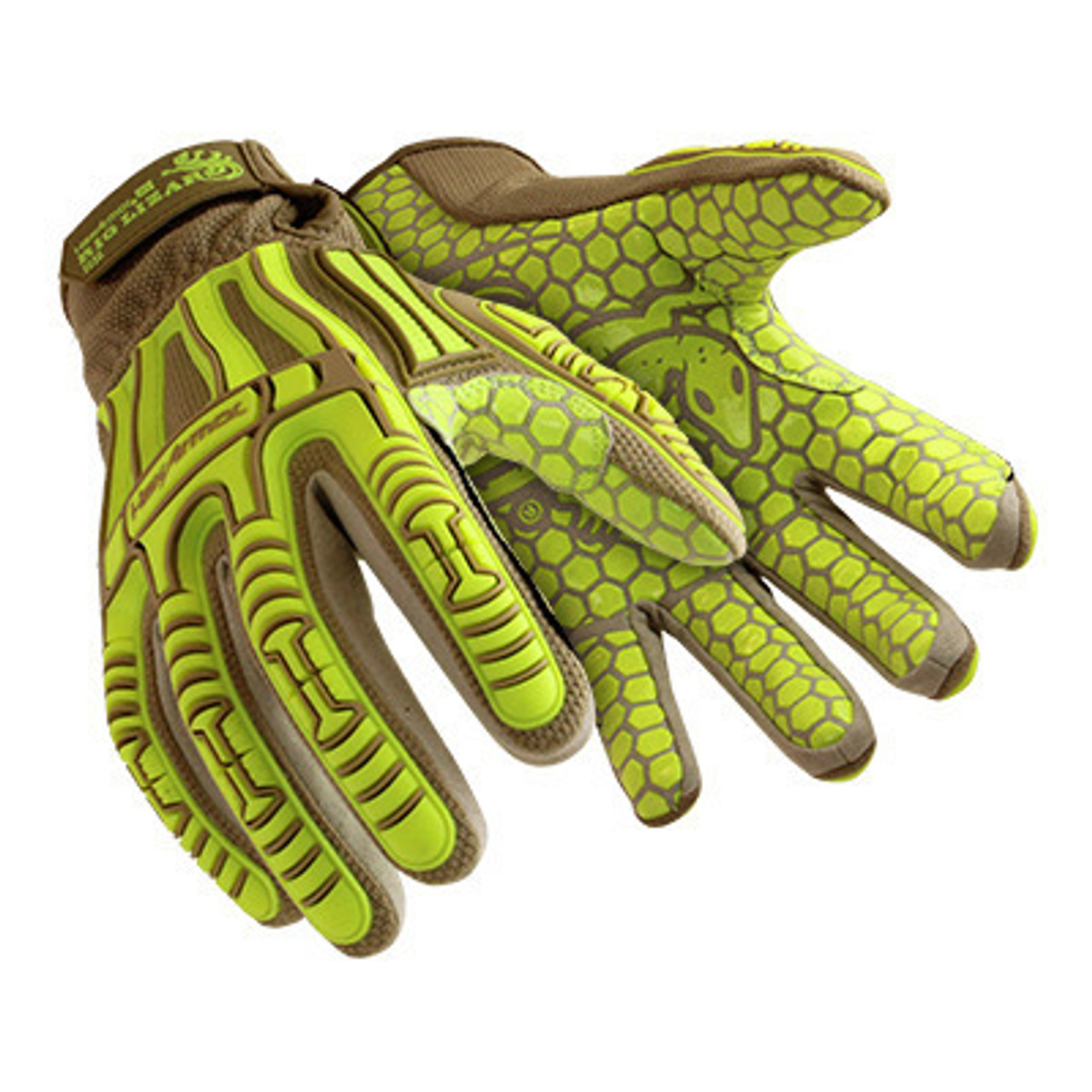 HexArmor Rig Lizard Thin Lizzie 2090X Impact Work Gloves with Nitrile Coated Palm