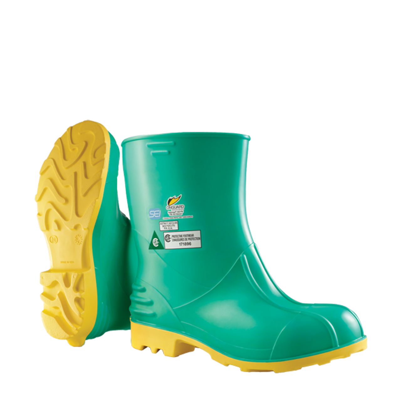 "ONGUARD Hazmax 87012 16/"" Steel Toe Hazmat Boots Size 11 lot of 3 pair"