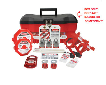 Accuform KSK115 STOPOUT Lockout//Tagout Pouch Kit Includes the Most Important Electrical Lockout Products in a Contoured with Front Zipper and Buckle Clip Red Nylon Pouch 11 Width x 5 Height x 3 Depth Adjustable Waist Strap
