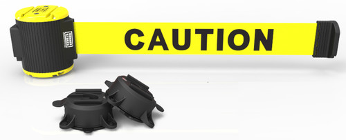 "Banner Stakes MH5001 30' Magnetic Wall Mount - Yellow ""Caution"" Banner. Shop now!"