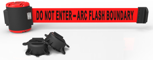 "Banner Stakes MH5008 30' Magnetic Wall Mount - Red ""Do Not Enter - Arc Flash Boundary"" Banner. Shop now!"