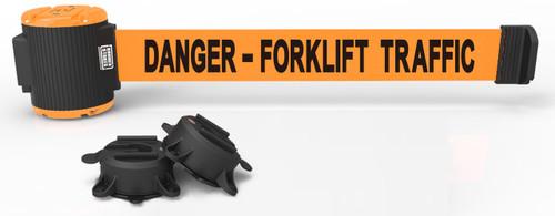 "Banner Stakes MH5013 30' Magnetic Wall Mount - Orange ""Danger- Forklift Traffic"" Banner. Shop now!"