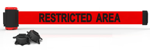 """Banner Stakes MH7007 7' Magnetic Wall Mount - Red """"Restricted Area"""" Banner. Shop now!"""