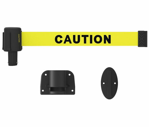 """Banner Stakes PL4106 PLUS Wall Mount System, Yellow """"Caution"""". Shop now!"""