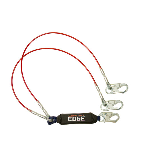 FallTech 8354LEY 6' Leading Edge Lanyard Y-Leg for 100% Tie-Off; Steel Snap Hooks. Shop Now!