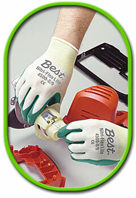 Showa Nitri Flex Lite Flat Dipped Nitrile Gloves. Shop now!