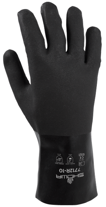 Showa 7712R-10 Black Knight PVC Coated Gloves. Shop now!
