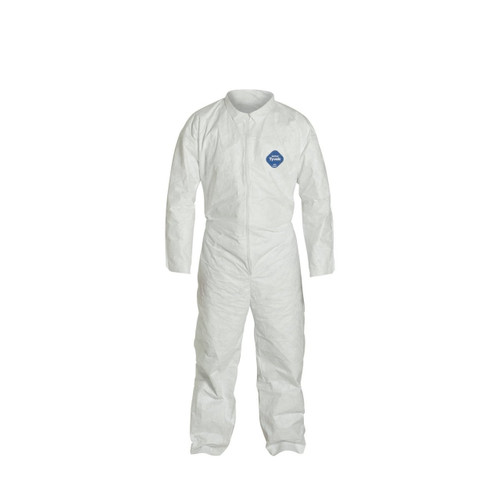 Tyvek TY120S Coverall with collar + open wrist and ankle
