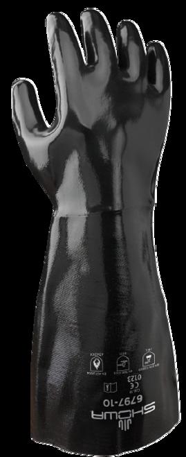 Showa 6797-10 Neoprene Coated Elbow Length Gauntlet Gloves. Shop now!