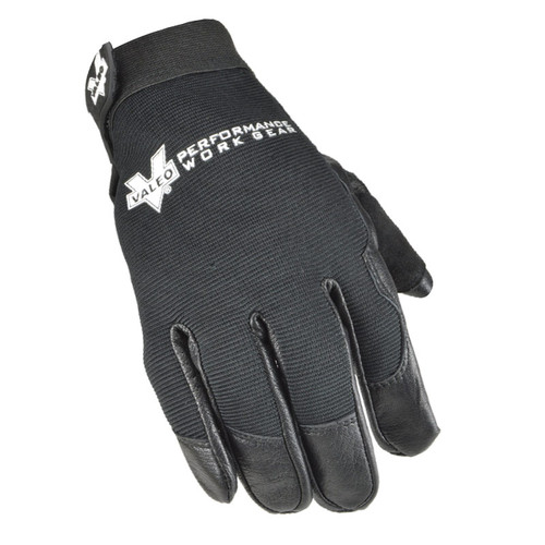 Valeo V257 Leather All Purpose Utility Glove with Black Stretch Back Top View. Shop Now!